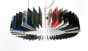 Floppy disk lamp