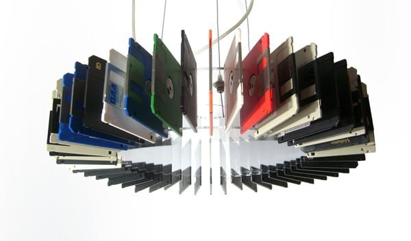 Floppy Disk Lamp Lamps & Lights Recycled Electronic Waste