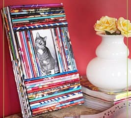 Recycled Magazine Frames Accessories Recycling Paper & Books