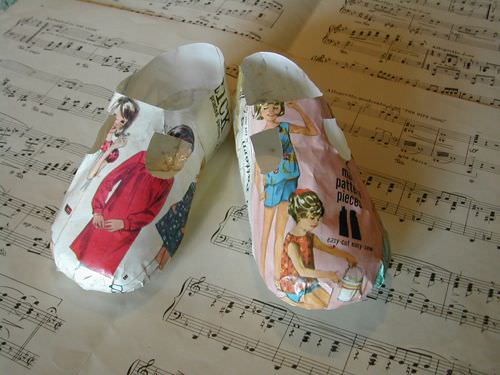 Paper shoes in paper accessories  with Shoes Paper & Books