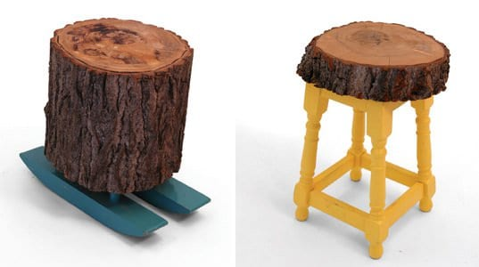 Lost & Found Stools Recycled Furniture