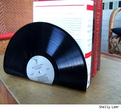 DIY: LP bookends Recycled Vinyl