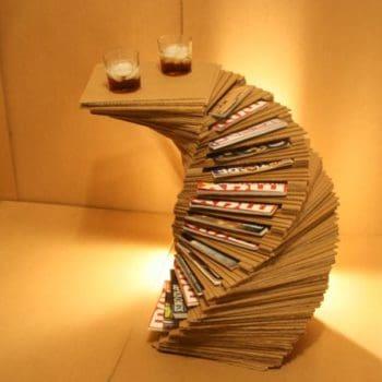 Cardboard Magazine Rack