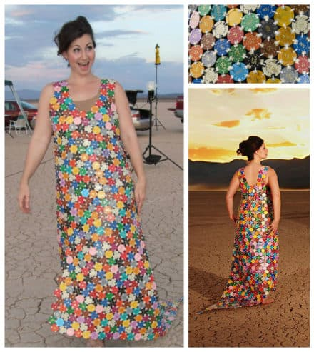 Dress From Upcycled Casino Chips