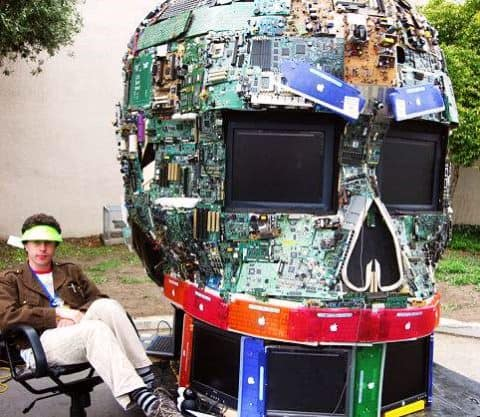Skull Art Recycled Electronic Waste