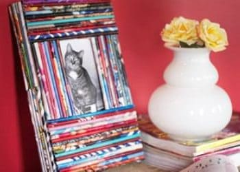 Recycled magazine frames
