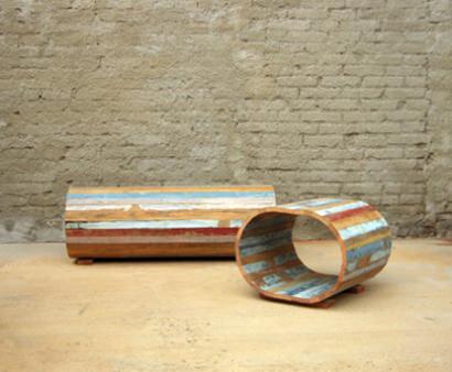 Wood stool & bench