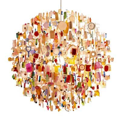 Debris Chandelier Lamps & Lights Recycled Art
