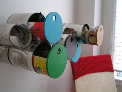 Tin can storage