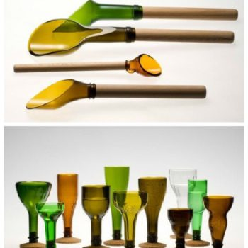 Recycled Glass Bottles by Laurence Brabant