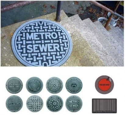Doormats made of recycled truck tires