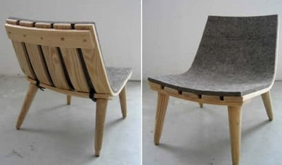 Wood & Felt Chair