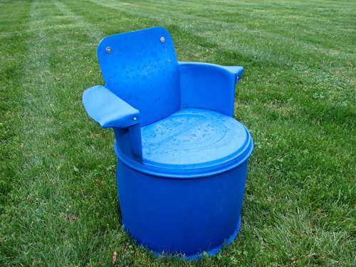 DIY : 55 gallon chairs in furniture plastics  with Chair Barrel