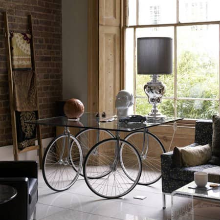 Bicycle table in furniture bike friends  with Wheel Table Bike