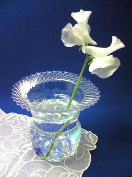 Diy : Plastic Bottle Vase Recycled Packaging Recycled Plastic