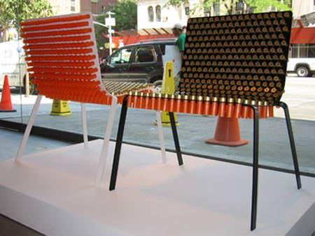 Shotgun Shells Chair Recycled Furniture