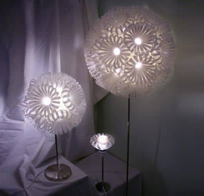 Upcycled Plastic Bottle Lamps