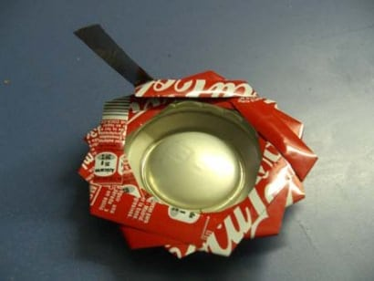 DIY: Recycled Cans Into Ashtrays