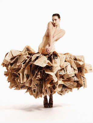 Fashion recycled dresses