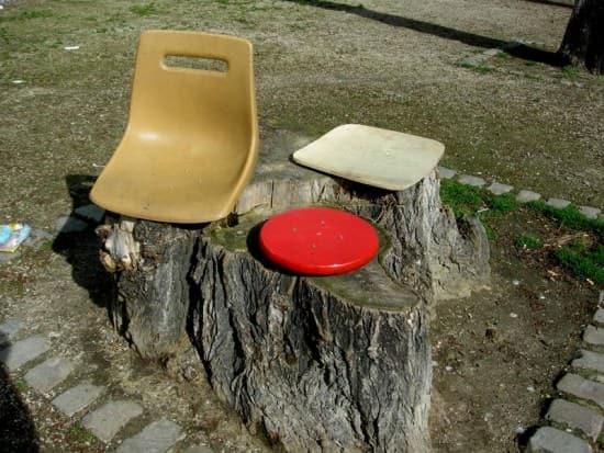 Ephemeral Seats Recycled Art Wood & Organic