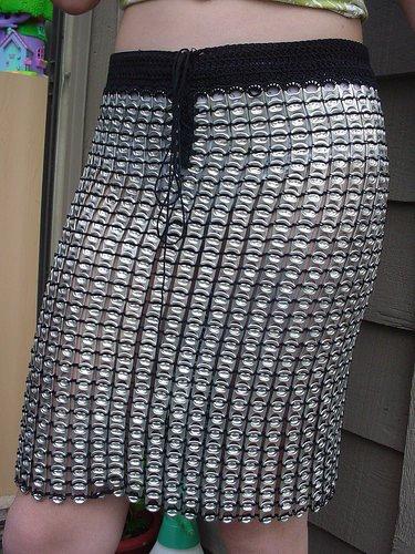 Pull tab dress Accessories Recycling Metal
