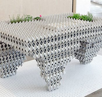 Egg Carton Table