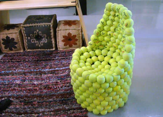 Tennis Ball Chair Recycled Furniture Recycled Sports Equipment