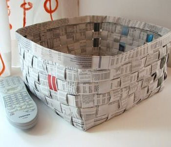 Diy : Newspaper Basket