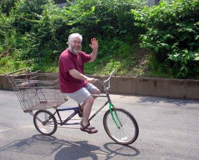 Shopping cart bike