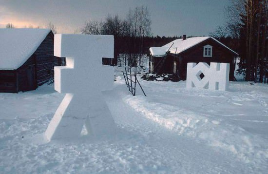 Snow installations Recycled Art