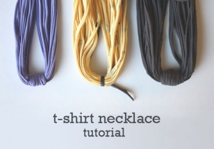 DIY Recycled Fabric Necklace