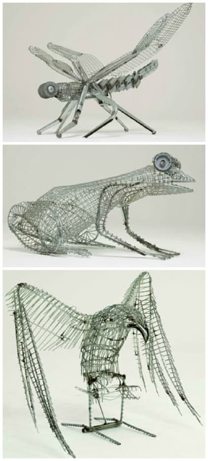 Old Cart Into Animal Sculptures
