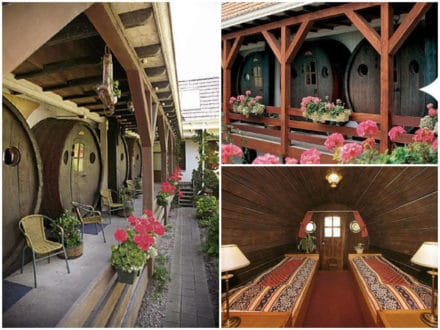 Wine barrel hotel