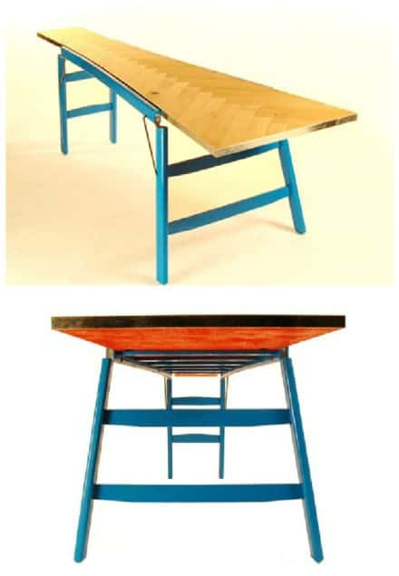 Wooden Ladder Into Table