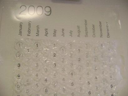 DIY Bubble calendar