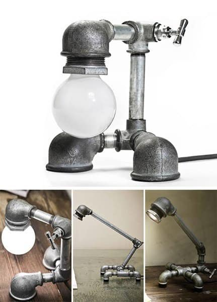 Lighting Made of Galvanized Iron Lamps & Lights Recycling Metal