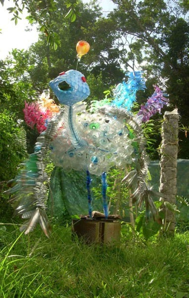 Household waste art