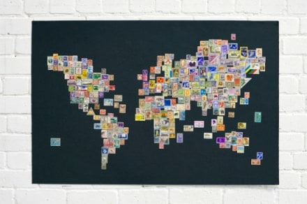 Stamps worldmap
