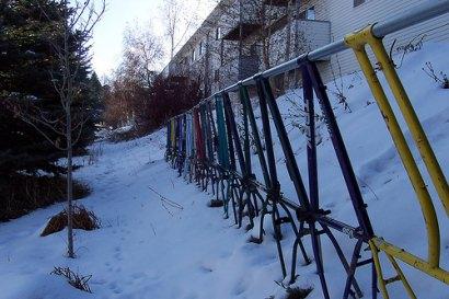 Bike frame fence