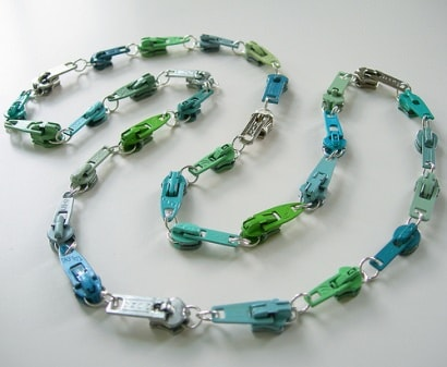 Vintage zipper necklaces
