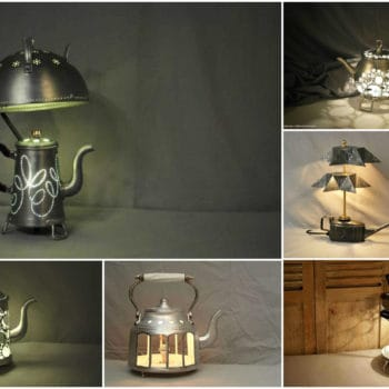 Upcycled Tea Pot Light