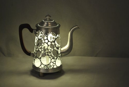 Upcycled Tea Pot Light Lamps & Lights Recycling Metal