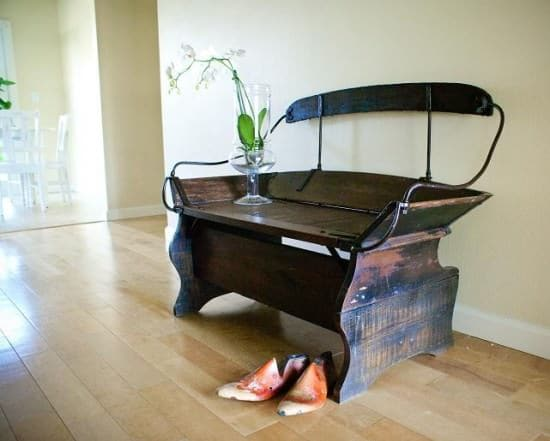 Repurposed Horse Carriage Seat Wood & Organic