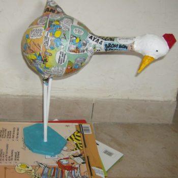 Paper Mache Hens