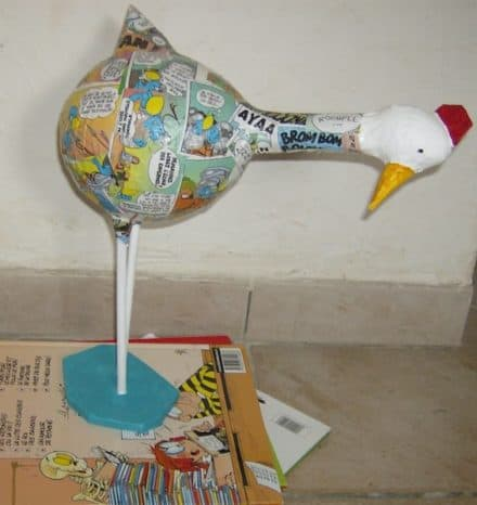 Recycled paper hens