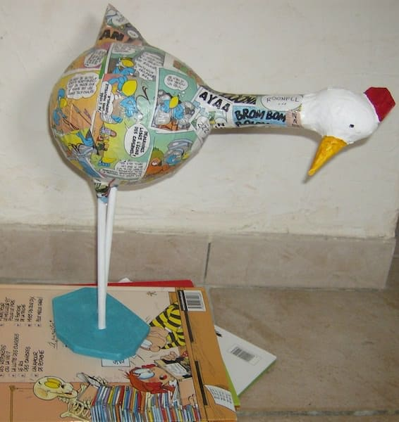 Paper Mache Hens Recycled Art Recycling Paper & Books