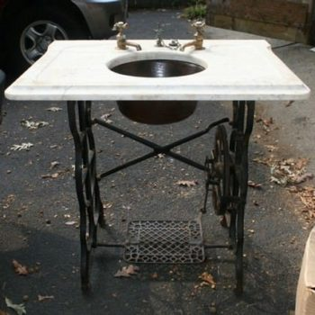 Sewing machine sink stand