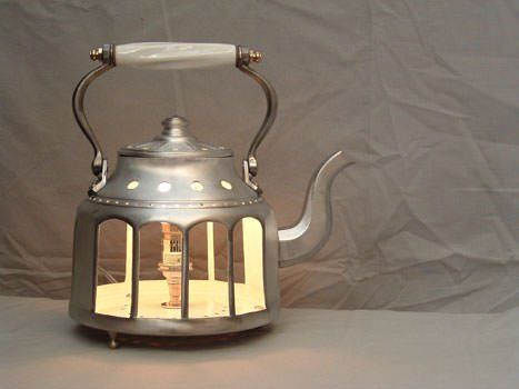 Tea pot light in metals lights  with Tea Light