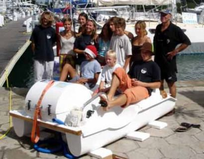 The Washing Machine Pedal Boat