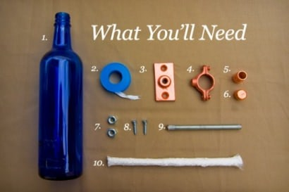DIY : recycled bottle torch